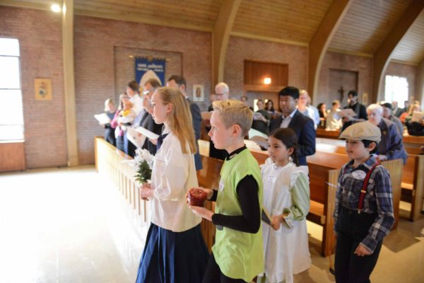 candlelight procession during a service at St. Andrew's