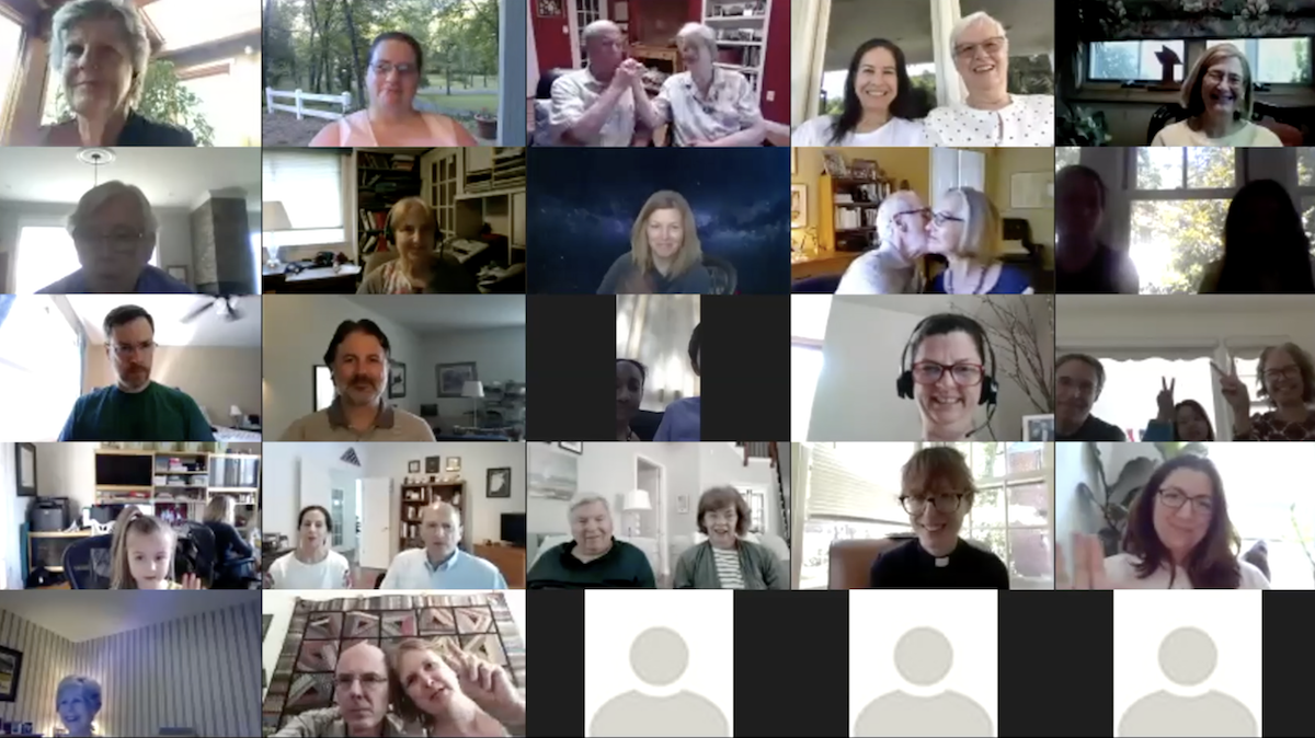 Gallery view of Zoom participants